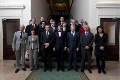 Photo de groupe du gouvernement de Elio Di Rupo