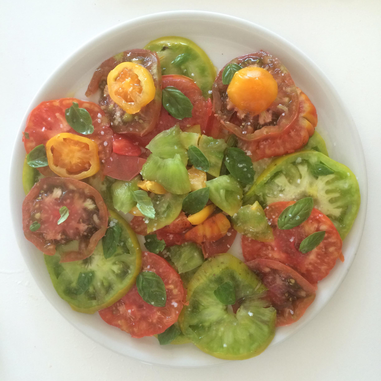 Assiette de tomates