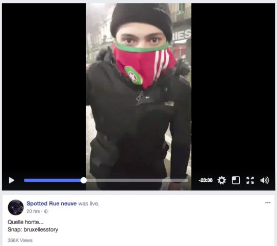Hooligan après un match du Maroc