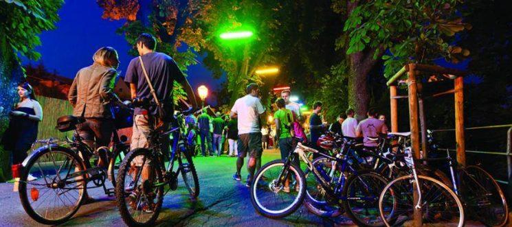 Bright bike parade